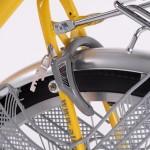 Built in bicycle wheel lock